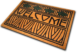 Dard Hunter Iris Motif Welcome Mat