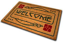 Dard Hunter Rose Motif Welcome Mat