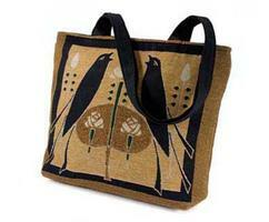 Shoulder Tote with Jade Motawi Songbirds Design