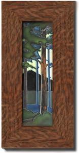 """Motawi Tileworks Pine Forest Landscape 4"""" x 12"""""""