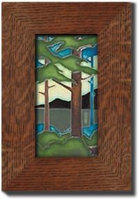 """Motawi Tileworks Pine Forest Landscape 4"""" x 8"""""""