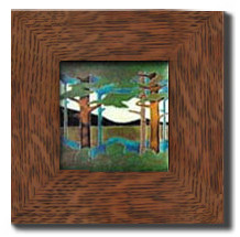 "Dard Hunter 3"" Solid Oak Legacy Frame (fits one 6"" x 6"" tile)"