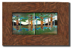 "Dard Hunter 3"" Solid Oak Legacy Frame (fits two 6"" x 6"" tile)"