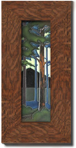 "Dard Hunter 3"" Solid Oak Legacy Frame (fits one 4""x 12"" tile)"
