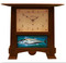 Craftsman Oak Finish with Turquoise Bonito Tile Pendulum Clock