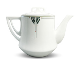 Dard Hunter Bone China Viennese Pendant Teapot