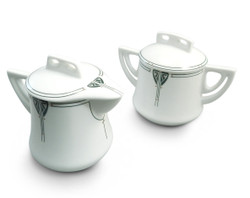 Dard Hunter China Viennese Pendant Sugar bowl and Creamer