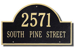 Whitehall   Arch Marker Address Plaque