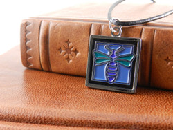 Jae Salvage Bee Pendant Turquoise (Free shipping)