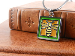 Jae Salvage Bee Pendant Green (Free shipping)