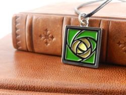 Jae Salvage Hunter Rose  Pendant Green (Free shipping)