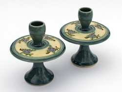 One Acre Ceramics - Blue Fruit Tree Candleholders
