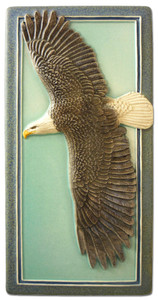 "Eagle in Flight 4"" x  8"" Tile - Medicine Bluff Studios"