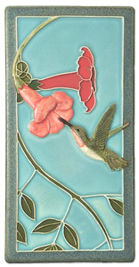 "Hummingbird Two 4"" x  8"" Tile - Medicine Bluff Studios"