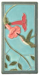 "Hummingbird Two 4"" x  8"" Tile - Medicine Bluff Studios"