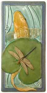"Koi & Dragonfly 4"" x  8"" Tile - Medicine Bluff Studios"