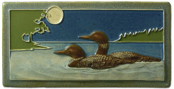 "Moonlight Loons 4"" x  8"" Tile - Medicine Bluff Studios"