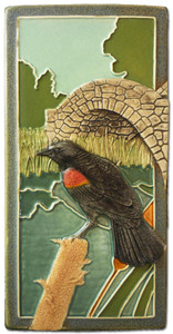 "Red Wing Blackbird 4"" x  8"" Tile - Medicine Bluff Studios"