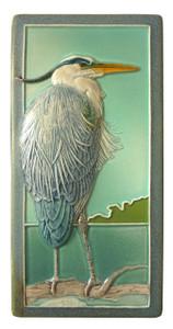 "Heron 4"" x  8"" Tile - Medicine Bluff Studios"