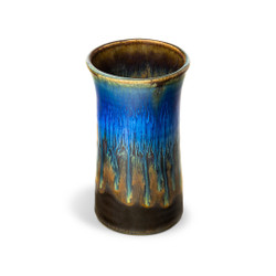 Blanket Creek Pottery Handmade Tumbler in Amber Blue