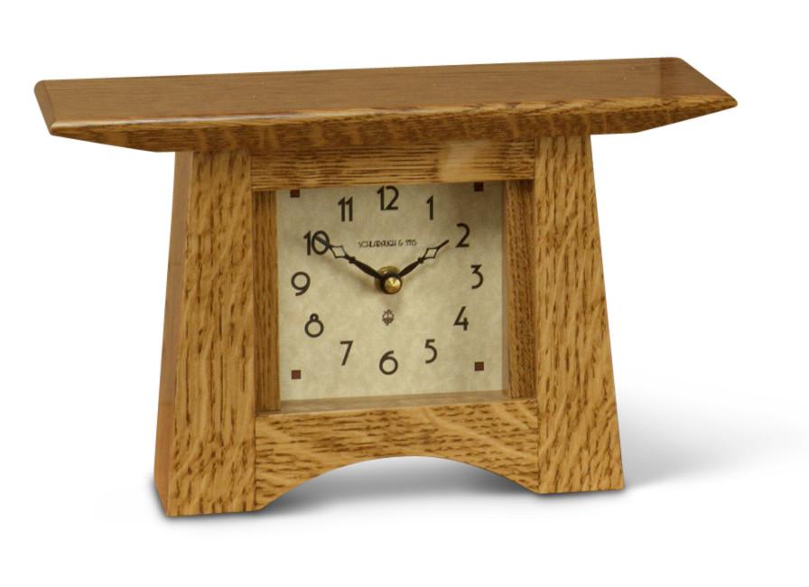 Schlabaugh Craftsman Mantel Clock Artsandcraftstile Com