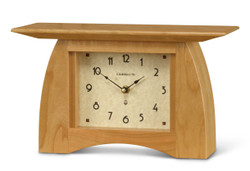 Schlabaugh and Sons Handmade Mantel Clock - Solid Cherry with Natural finish