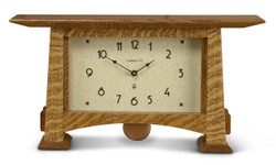 Craftsman Horizon Pendulum Clock by Schlabaugh and Sons. Shown in Nut Brown Oak.