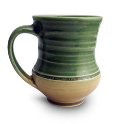 One Acre Ceramics - Handmade Mug Green/Tan