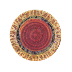 Blanket Creek Pottery Lunch Plate in Green Ash