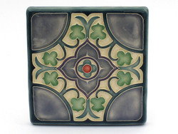 One Acre Ceramics - Flores Tile 5x5 Purple