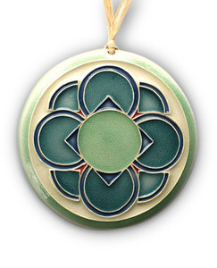 Four Flowers Ornament. Now comes on a simple silver cord.