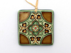 One Acre Ceramics - Flores Ornament Brown 2.75""