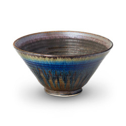 Small Serving Bowl in Amber Blue Glaze