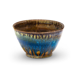 Cereal or Soup Bowl in Amber Blue