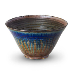 Medium Serving Bowl in Amber Blue