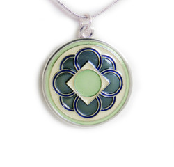 Four Flowers Pendant - Blue/Green