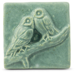 Two Owls 4 x 4 Tile