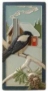 "Chickadee 4"" x  8"" Tile - Medicine Bluff Studios"