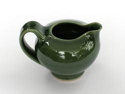 One Acre Ceramics -Green Glossy Creamer