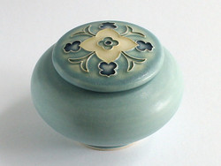 One Acre Ceramics Wildflower Covered Jar Blue