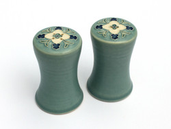 One Acre Ceramics -Wildflower Blue Salt & Pepper Shakers