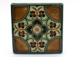 One Acre Ceramics - Flores Tile 5x5 Brown
