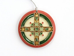 One Acre Ceramics - Swedish Hearts Ornament Red - Small