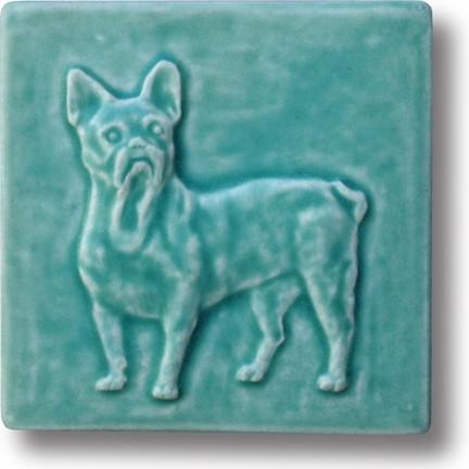 French Bulldog Tile in Bermuda