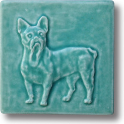 French Bulldog Tile in Bermuda