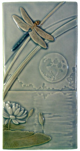 Dragonfly Moon Tile from Medicine Bluff Studio