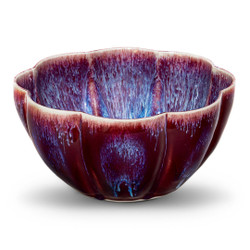 Flower Bowl, Large in Bordo