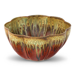 Blanket Creek Pottery Large Flower Bowl in Green Ash