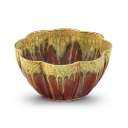 Blanket Creek Pottery Medium Flower Bowl in Green Ash