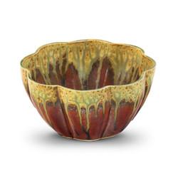 Blanket Creek Pottery Medium Flower Bowl in Green Ash